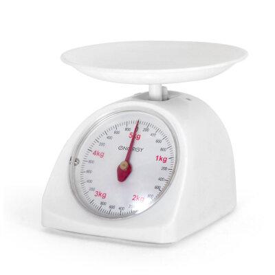 Весы бытовые кухонные механические до 5  кгEnergy EN-405МК- W,  точность 40 гоаммцвет:Белый