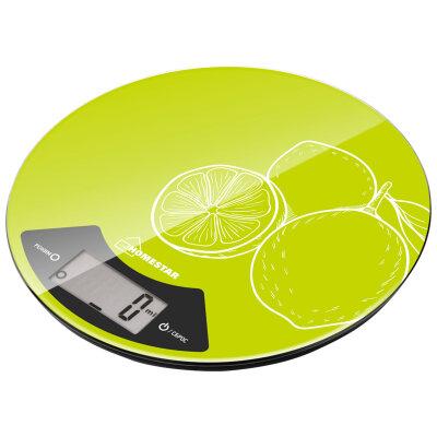 Весы круглые кухонные до 7 кг HOMESTAR HS-3007 точность 1 грамм цвет зеленый