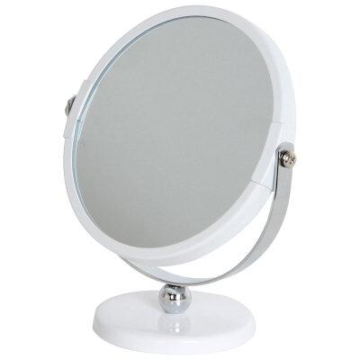 Зеркало косметическое 2-х стороннее Рыжий КОТ M-3135 увеличительное 12.5 см  на ножке