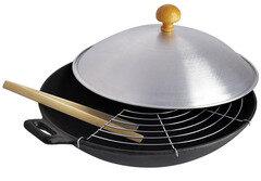 Сковорода ВОК Regent 93-FE-7-37 чугунная с крышкой, 37x9 см