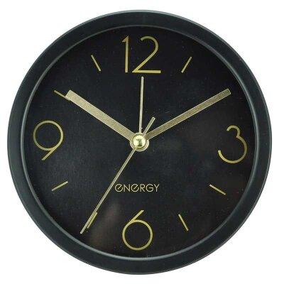 Часы будильник настольные на батарейки ENERGY EA-06 11.5х4.2 см корпус и циферблат черный