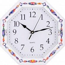 Часы настенные восьмигранник 28 см MAX-8817 белый ободок