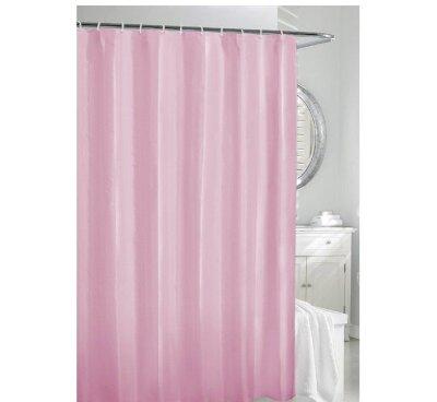 Штора для ванной 180х180 см розовая Рыжий КОТ 10 колец в комплекте