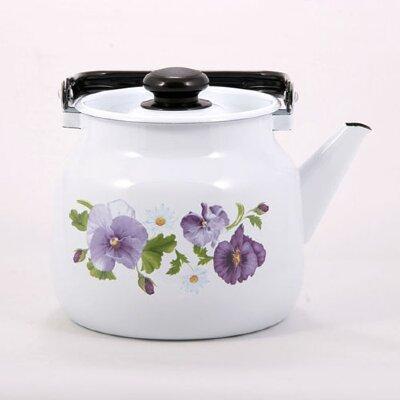 Чайник 3.5 л АНЮТИНЫ ГЛАЗКИ С-2713П2/4Рч на плиту эмалированный