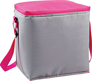 Термосумка 15 л ECOS CB-601 размер 27x21x29 см цвет серый с розовым