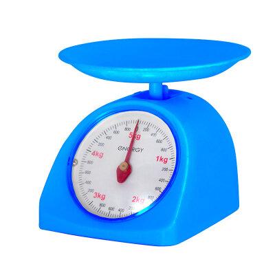 Весы бытовые кухонные механические до 5 кг Energy EN-405МК Blue пластик, цвет Синие
