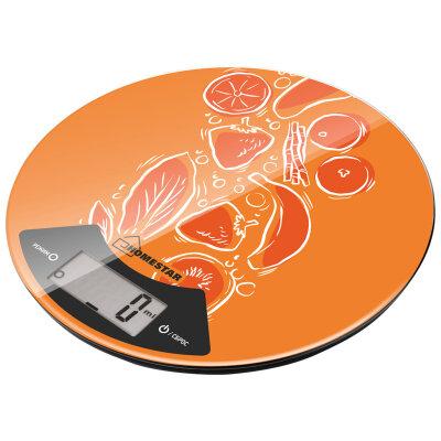 Весы кухонные круглые электронные до 7 кг HOMESTAR HS-3007, оранжевые