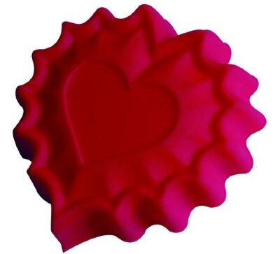 Силиконовая форма для выпечки «Сердце» 93-SI-FO-40 Regent, 25.5x24x3.5 см