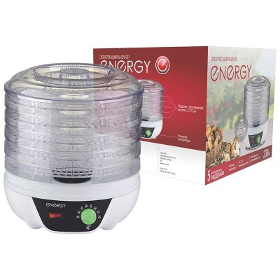 Электросушилка для продуктов ENERGY EN-551 5 съемных поддонов диаметр 25 см 7 л 230 Вт