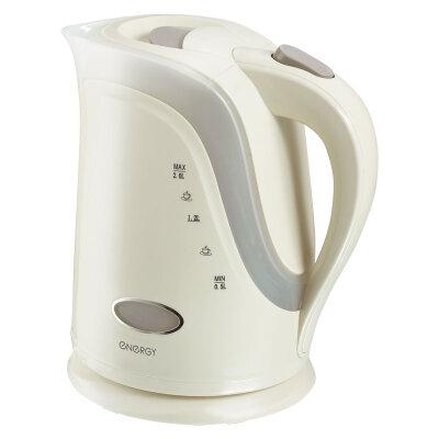 Чайник электрический пластиковый 2л ENERGY E-242 2000 Вт, диск, бежевый