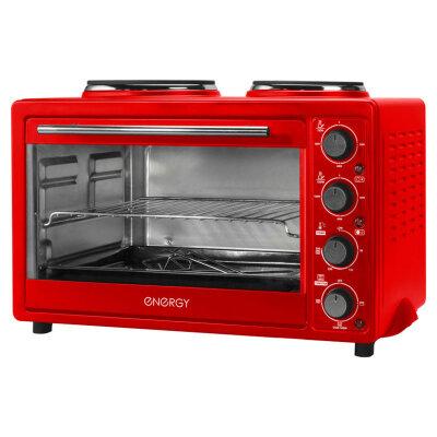 Мини плита Energy GН30-R с настольной духовкой на 30 л цвет: Красный