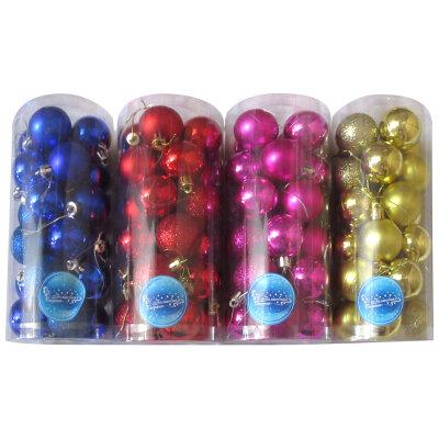 Набор шаров для новогодней елки 4 см SYCB17-634 24 шт,