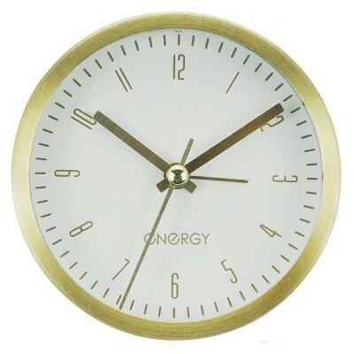 Часы будильник настольные на батарейках ENERGY EA-02 круглые, золото