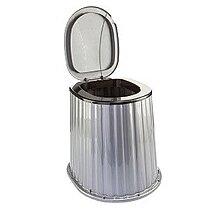 Стульчак для дачного туалета 09045 цвет - черный с серебром