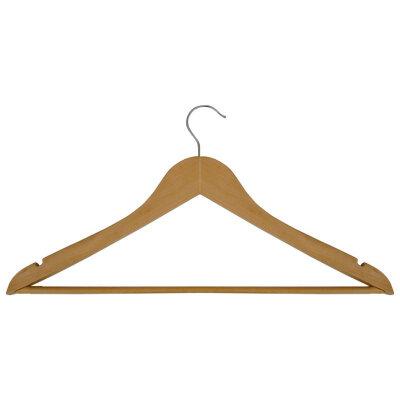 Вешалка плечики деревянная для одежды с перекладиной Рыжий КОТ W2-PA 44х25 см