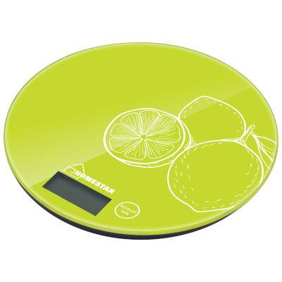 Весы круглые стеклянные электронные до 7 кг HOMESTAR HS-3007S функция тары, цвет лайм