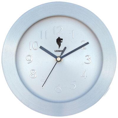 Часы круглые настенные 30 см LEONORD LC-73 бесшумные с металлическим ободком