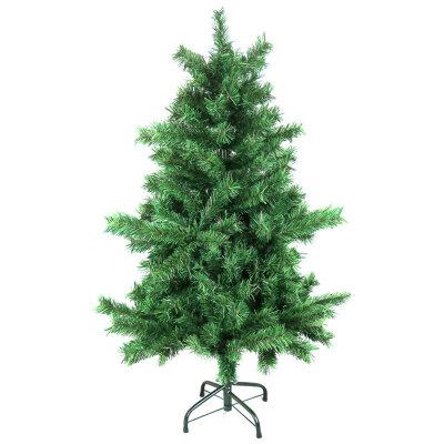 Елка новогодняя искусственная для дома 120 см, 250 веток, зеленая