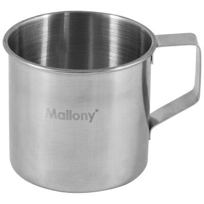 Кружка 250 мл Mallony FONTE из нержавеющей стали с загнутыми краями, матовая,  7х7 см