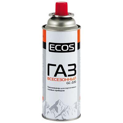 Баллон портативный газовый цанговый ECOS GC-220, Всесезонная смесь до -10 грд