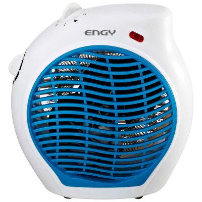 Тепловентилятор электрический для дома 2000 Вт Engy EN-517 синий спиральный тэн