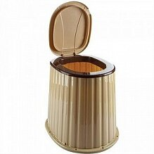 Стульчак для дачного туалета пластиковый 09045 цвет Бежевый