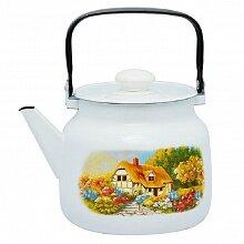 Чайник 3.5 л Хуторок С-2713П2/4 на плиту эмалированный