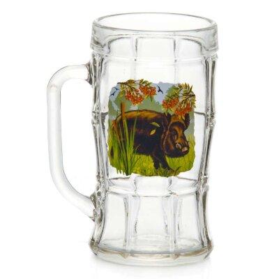 """Кружка для пива 500 мл """"КАБАН"""" арт. Д01/П-85-500-ЕП1 стеклянная"""