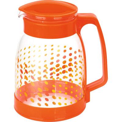 Кувшин 1.8 л Brocca-1800 Mallony Оранжевый из жаропрочного стекла с пластиковой ручкой