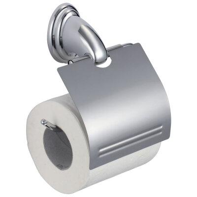 Держатель для туалетной бумаги настенный Рыжий КОТ BA-PH-1 металлический с крышечкой