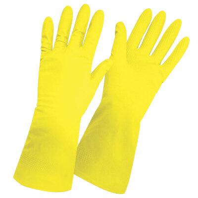 Перчатки хозяйственные латексные RC-LF размер M повышенной прочности c хлопковым напылением