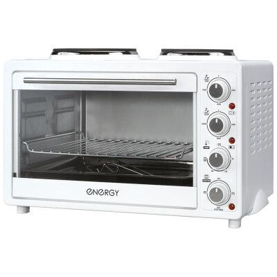 Мини плита настольная 30 л Energy GН30-W с электрической духовкой  цвет: Белый