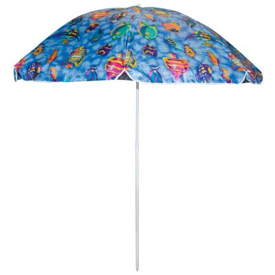 Зонт пляжный с наклоном складной большой ECOS SDBU002A диаметр 2 м, штанга 2 м