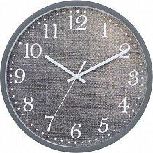 """Часы круглые настенные 31 см MAX-9858V3 """"Джинс"""" кварцевые в пластиковом корпусе"""