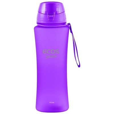 Спортивная бутылка для воды ECOS SK5015 650 мл фиолетовая