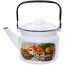 Чайник 2 л Хуторок С-2710П2/4 на плиту эмалированный