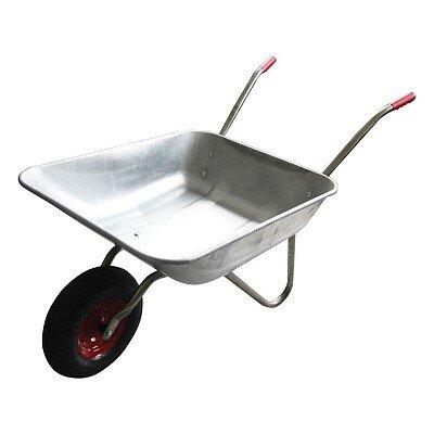 Тачка садовая WB 4701 БОКСЫ Park, одноколесная, грузоподъемность 80 кг, 65 литров, оцинкованный кузов 0.5 мм