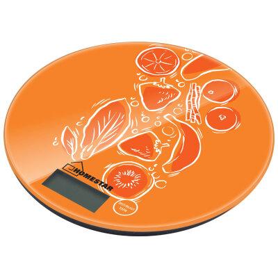 Весы круглые стеклянные на кухню HOMESTAR HS-3007S, 7 кг, фрукты