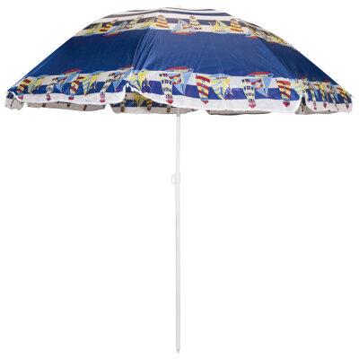 Зонт для пляжа c наклоном от солнца складной большой ECOS SDBU002B диаметр 2 м, высота 2 м