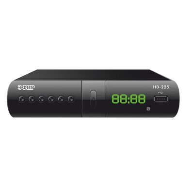 Ресивер эфирный цифровой DVB-T2 Эфир HD-225 дисплей DOLBY DIGITAL