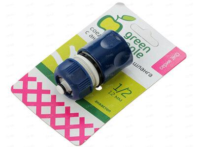 Green Apple GAES20-05 Коннектор для полива с аквастопом с внешней на 1/2 дюйма или 12 мм