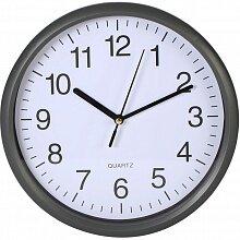 Часы круглые настенные 25 см MAX-8596 кварцевые в пластиковом корпусе