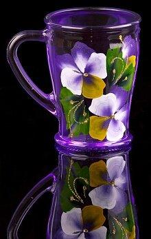 Кружка для чая 200 мл стекло арт. Х01/П-73-200-ЕЧ цветная