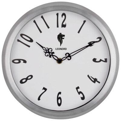 Настенные часы без секундной стрелки 39 см LEONORD LC-75 с большими цифрами