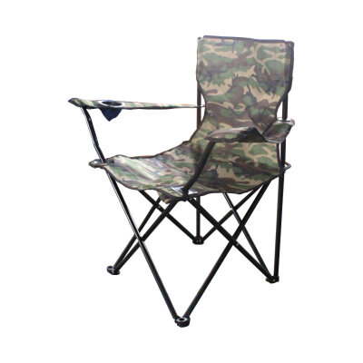 Кресло походное складное с подлокотниками до 120 кг PARK DW-2009H вес 1.8 кг, Камуфляж