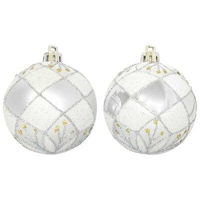 Набор елочных новогодних шаров 6 см PBD6-6-882-S 6 штук серебристые