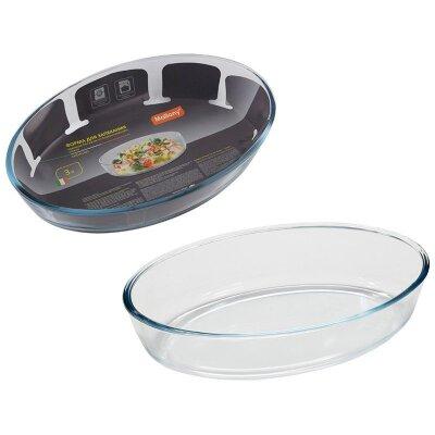 Форма для запекания стеклянная 3 л Cristallino Mallony без ручек 35х24х6.5 см