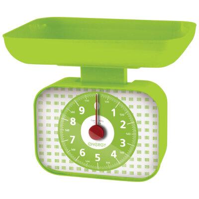 Весы настольные с чашей механические до 10 кг ENERGY EN-410МК-GR пластик, цвет: Зеленый