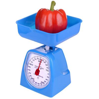 Весы бытовые настольные механические с чашей до 5 кг MAXTRONIC MAX-1801 цена деления 40 грамм