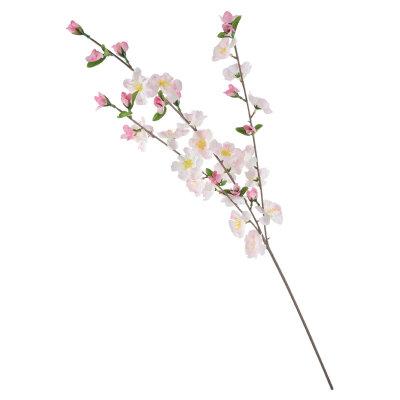 Искусственная ветка для декора Яблоня цвет бело-розовый 84 см